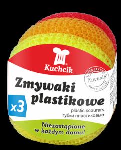 Plastics scourers 3 pcs