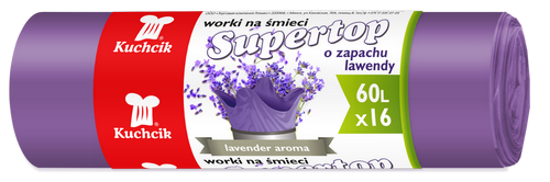 Worki Supertop 60L, 16 szt.